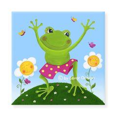 LEVAR DESIGN - Kinderzimmerbild - Frosch Herbert