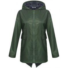 New Women Casual Hooded Long Sleeve Outdoor Waterproof Swallowtail Raincoat Jacket #RaincoatsForWomenLongSleeve