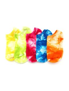 Socks & Tights by BORNTOWEAR. Tie Dye Invisible Socks 5pairs