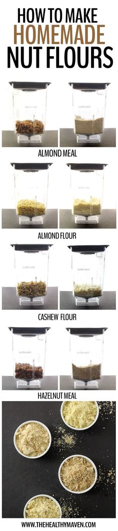 Ever wondered how to make nut flours?  Here's our step-by-step recipe to teach you how to make your own almond flour, hazelnut flours and even cashew flour // www.skinnymetea.com.au