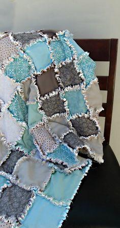 Baby Modern Rag Quilt. $105.00, via Etsy.