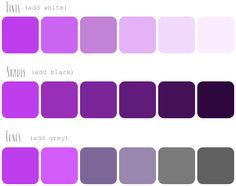 How to Create Color Palettes / tints, shades, and tones