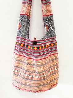 NEW Thai Shoulder Bag CrossBody Bag Cotton Bag Boho Hippie Handmade Multi Color #thaibag #hippie