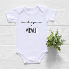 Tiny Miracle Onesie®, Pregnancy Announcement Shirt, We Hoped and We Prayed Onesie, IVF Onesie, Tiny Ivf Pregnancy, Pregnancy Announcement Shirt, Pregnancy Quotes, Pregnancy Videos, Pregnancy Calendar, Baby Announcements, Pregnancy Humor, Pregnancy Workout, Plotter Silhouette Cameo