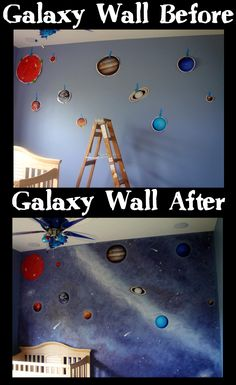 This has to be one of our favorite customer projects yet! They placed the decals, where they wanted them, and then painted the wall in a fantastic space and galaxy design. We would love to do this in our office!