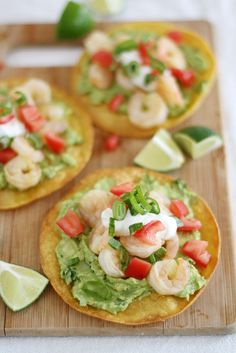 What's for dinner? Shrimp Avocado Tostadas.