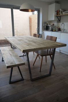 From designshack1980 on eBay. He's a carpenter who I used to make our table at home - produces good work at minimal cost. This is a John Lewis Calia Style Vintage Industrial Rustic Reclaimed Top Dining Table