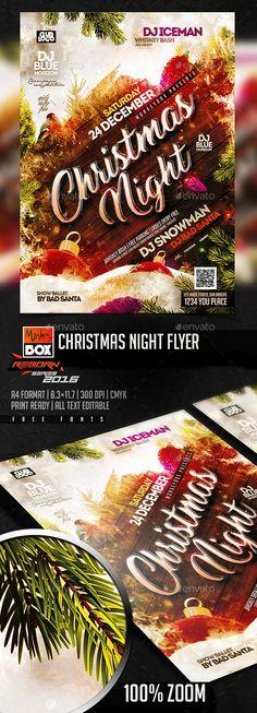 Christmas Night Flyer Template PSD