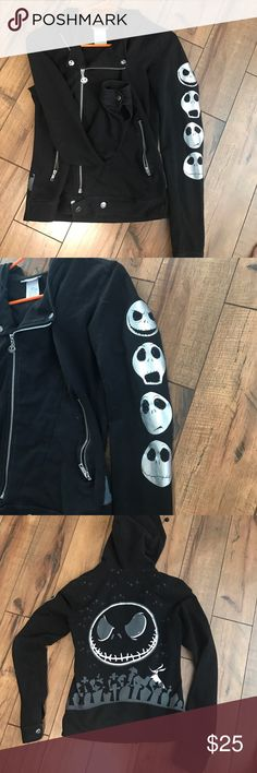 Nightmare Before Christmas Disney Zip Up Hoodie From Disneyland. Size small. Barely worn. Adorable. Disney Jackets & Coats