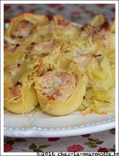 Conchiglioni aux poireaux et jambon | Marmotte cuisine !