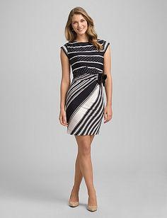 Mixed Stripe Dress-graduation?