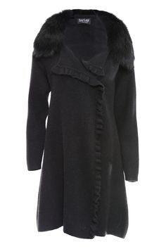Jayley Black Cashmere Coat | Women's Cashmere Coats