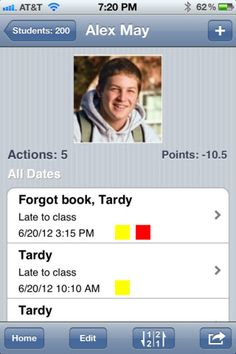 Don't know if I can get it, but this teacher's Assistant looks cool! Keep track of student behavior, attendance, etc. It assigns points for different behaviors, which you can customize. You can even email their parents a weekly report if you would like. Student Behavior, Classroom Behavior, School Classroom, School Teacher, Classroom Management, Classroom Ideas, Behavior Management, Teacher Organization, Teacher Tools