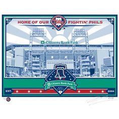 Philadelphia Phillies Citizens Bank Park Sports Propaganda x Serigraph Philadelphia Sports, Propaganda Art, Citizen, 21st, Baseball, Park, Fitness, Mlb, Pride