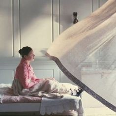 Bright Star - The bedroom is so lovely with the curtains belling and flattening. Or when they hatch butterflies...