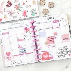 What up, February?.. aka one glorious month closer to spring!❤️ #beforethepen . . . . . . . . #happyplannerstickers #happyplanner…