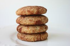 Snickerdoodle Cookies (Paleo) with almond meal, coconut flour, egg, honey, coconut oil, vanilla, cinnamon, nutmeg, baking soda, sea salt - I made these and they are yummy!