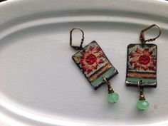 Tin Jewelry Earrings Fleur Weathered Tin for the by TheMadCutter, $31.00
