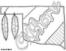 Oklahoma: lots of coloring pages including inspirational quotes, doodles, states...