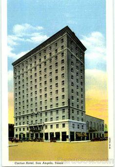 San Angelo Tx Cactus Hotel Texas News Agency Travel