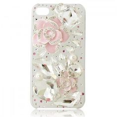 Big Crystal Camellia Iphone4/4S Cases, so pretty