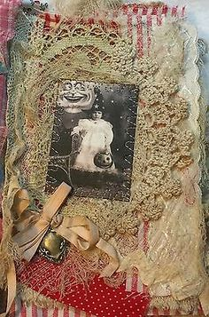 Little-Book-of-LITTLE-WITCHES-Mixed-Media-Fabric-Album-Shabby-Chic