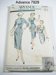 Advance 7929 Chinese-inspired dress designed by De De Johnson of California