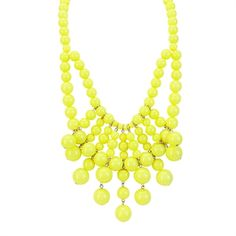 Stephan and Co. Juniors Layered Beads Bib Necklace #VonMaur #StephanandCo #Yellow