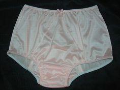 Adult Sissy Pink Tricot Panties w/ Large Mushroom Double Gusset Made High Waist 2 Pretty Lingerie, Bra Lingerie, Women Lingerie, Nylons, Vintage Underwear, Nylon Underwear, Granny Panties, Lingerie Collection, Girls Be Like