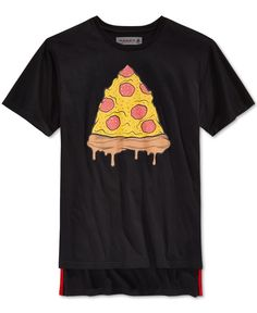Black Pyramid Men's Pizza Graphic-Print T-Shirt
