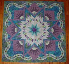 Glacier Star, Quiltworx.com, Made by CI Gwyn E. Campbell.