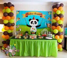 Resultado de imagem para panda e os amigos Canal Panda, Panda Party, Alice, Toy Chest, Birthday Cake, David, Ideas, Baby Party, Panda Birthday Party