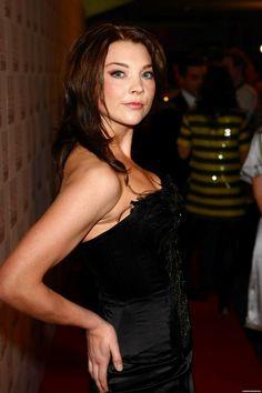 """NATALIE ~ ROCKING BRUNETTE HAIR AS SHE FILMS SEASON 1 OF SHOWTIME'S,  """"THE TUDORS"""""""