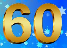 gouden 60ste verjaardag