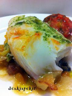 bacalao fresco con verduras