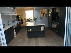 Tanya Burr & Jim Chapman's new kitchen White subway tiles, dark grey units (though I'd prefer lighter grey)