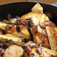 Chicken Braised with Figs, Honey and Vinegar