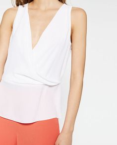 Image 4 of DOUBLE LAYER TOP from Zara
