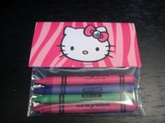 Hello Kitty Party Favor Crayons