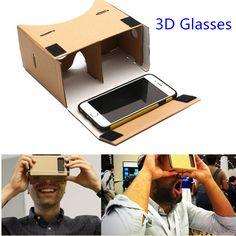 Google Cardboard 3d Glasses Virtual Reality Glasses Vr Box DIY Google Vr Cardboard 3d Glass For Iphone Huawei 6 Sony Xperia Z