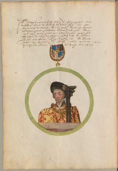 Coat of arms of Philip III, Duke of Burgundy. Chorographie Flanderns in Portraits der Landesfürsten, den Wappen des Adels und des Landes und in seiner Geographie Niederlande 1562