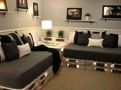 I want a pallet couch like this for my living room!!