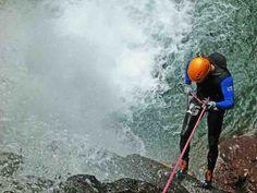 Kerenkali abseil last waterfall - Bali canyoning