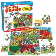 Carson-Dellosa Publishing Fun at the Farm, Seek and Play Puzzle -- This is an Amazon Affiliate link. Be sure to check out this awesome product.