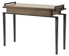 Maple Finish Console Table