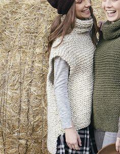 Ravelry: Vest pattern by Fil Katia Knit Vest Pattern, Sweater Knitting Patterns, Knitting Stitches, Hand Knitting, Knitwear Fashion, Knit Fashion, Crochet Clothes, Knit Crochet, Winter Accessories