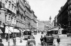 Am Graben, Wien um 1900 Europe Eu, Good Old Times, Old Pictures, Vintage Pictures, Old City, Slovenia, Hungary, Vienna, Old World