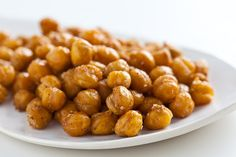 Garbanzo beans that the whole family eats like chips!! A yummy + healthy snack.