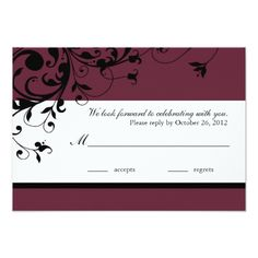 Wine Wedding RSVP Response Card
