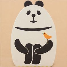 die-cut black and white panda animal Note Pad from Japan  2